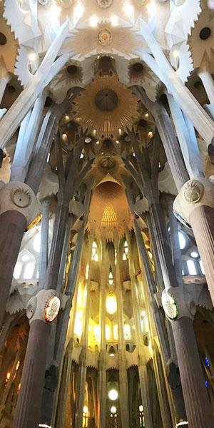 サクラダファミリアの天井