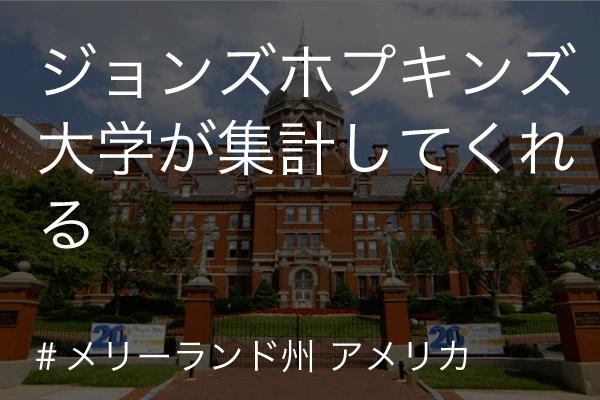 ジョンズホプキンス大学 集計 (covid-19/コロナウイルス)