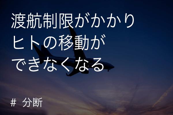 渡航制限(covid-19/コロナウイルス)